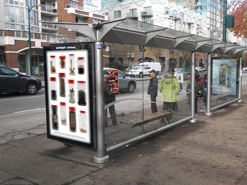 transit shelter ads